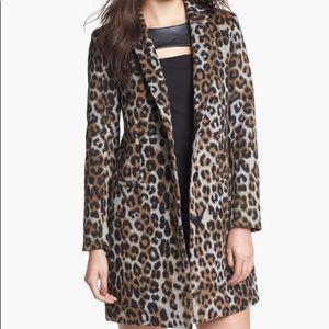 Cheetah Wool Coat